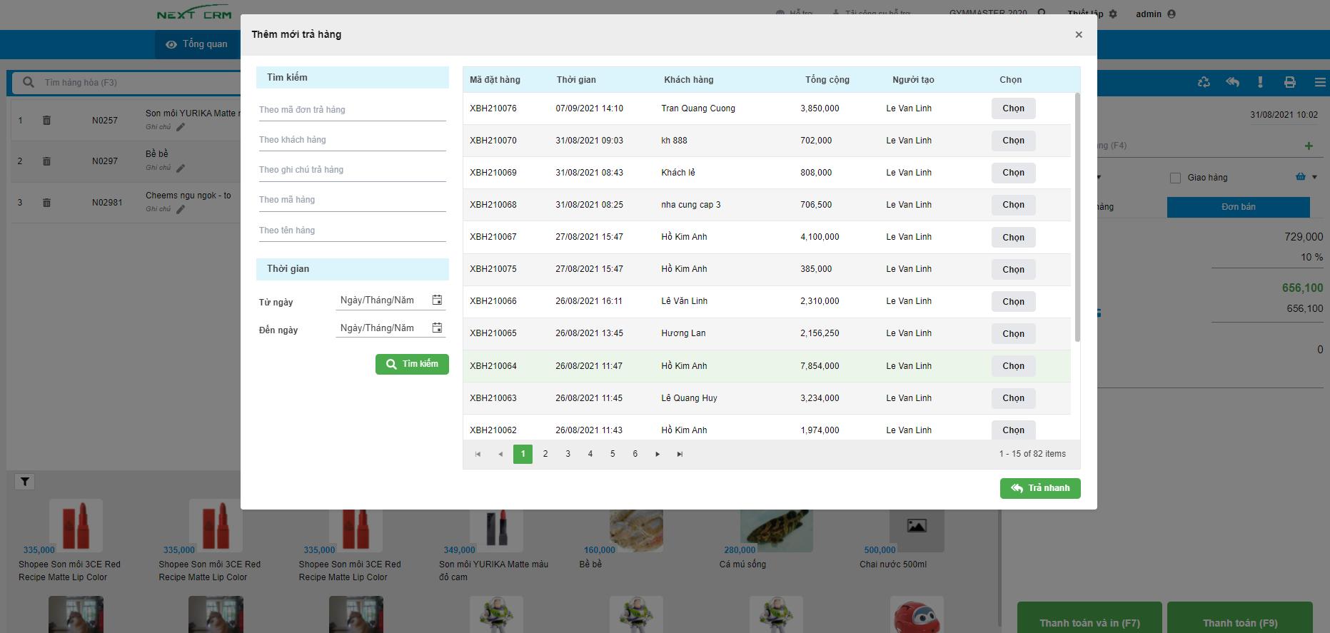 Triển khai phần mềm bán hàng DataPOS cho chuỗi 5 điểm bán hàng của VietinBank (Mảng Trang Sức)